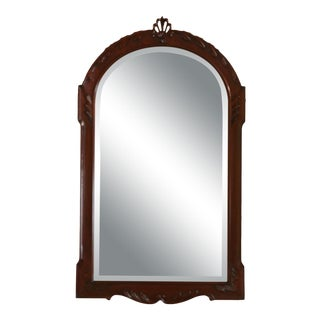 Henkel Harris Carved Frame Mahogany Mirror For Sale