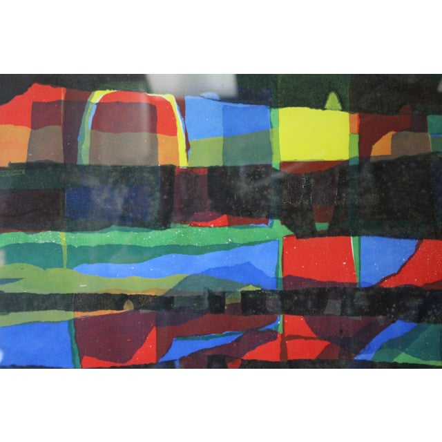 Paper Abstract Framed Rainbow Print For Sale - Image 7 of 8