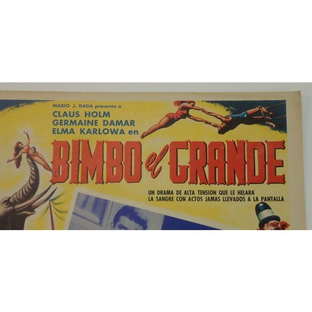 Vintage Spanish Circus Movie Poster Bimbo Elephant - Image 3 of 6