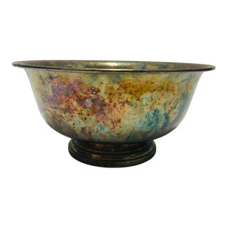 Vintage English Silverplate Bowl For Sale