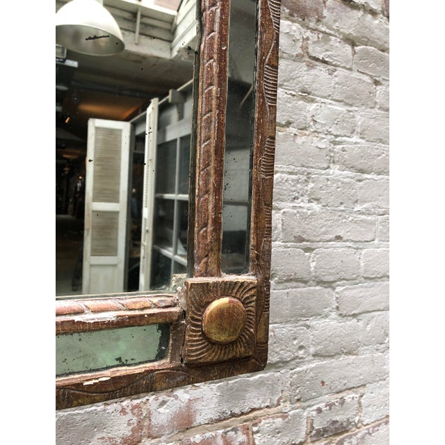 French 18th Century Caved Gilt Wood Smal Louis XVI Mirror For Sale - Image 3 of 8