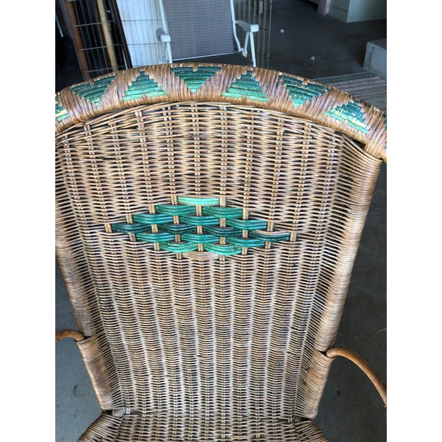 Antique Wicker Chairs-A Pair For Sale - Image 4 of 11