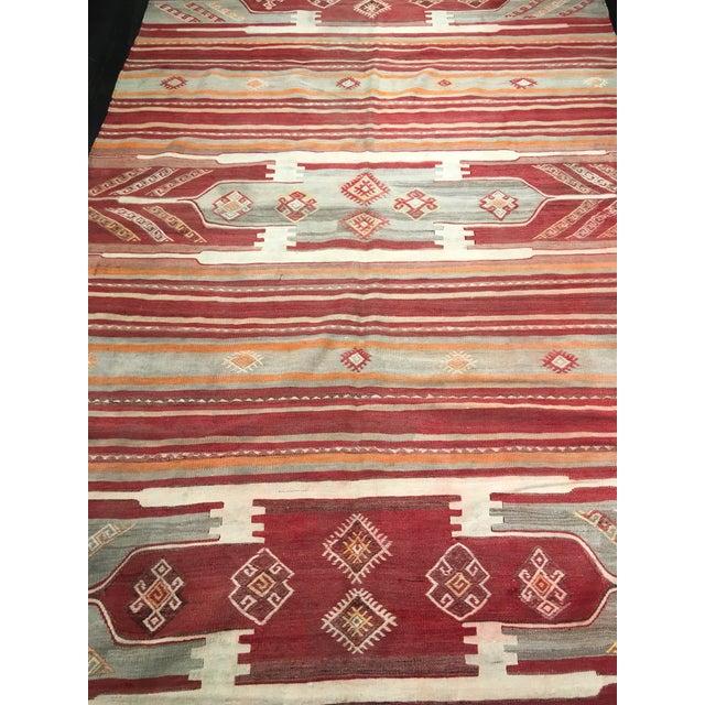 """Bellwether Rugs Vintage Turkish Kilim Rug - 4'11"""" x 7'9"""" - Image 3 of 9"""