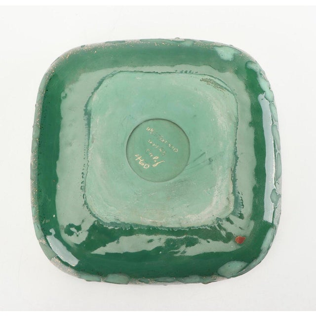 Mid 20th Century Green Vintage Westwood Ware Dish or Ashtray With 24 Kt Metallic Gold For Sale - Image 5 of 7