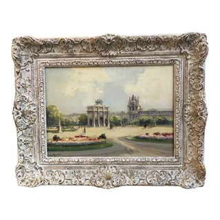 20th Century French Impressionist Oil on Board by Artist Charles Bloudin For Sale
