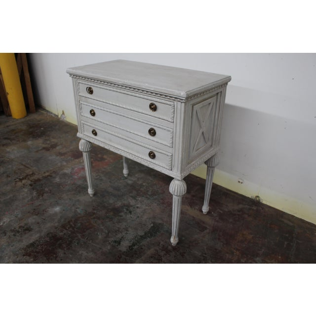 Metal 20th Century Swedish Gustavian Style Nightstands-A Pair For Sale - Image 7 of 8