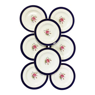 Vintage English China Coalport Fairfax Pattern Dessert/ Salad Plates - Set of 8 For Sale