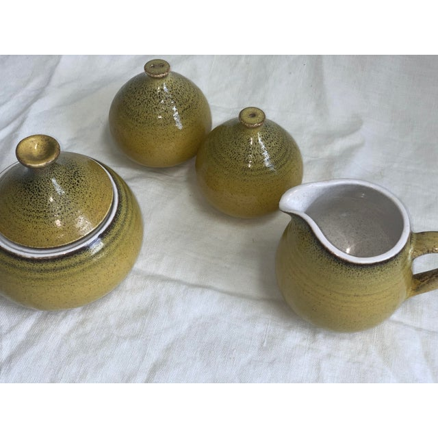 Rustic 1960s Mikasa Japan Ceramic Table Set - 4 Piece Set For Sale - Image 3 of 6