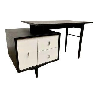Mid-Century Modern John Keal Desk With Bookshelf for Brown Saltman For Sale