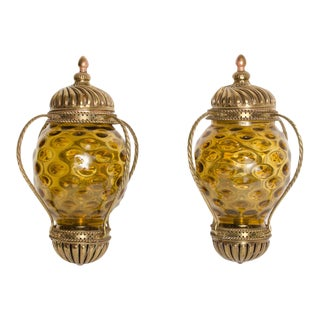 1890s Carriage Lantern Style Wall Sconces - a Pair For Sale