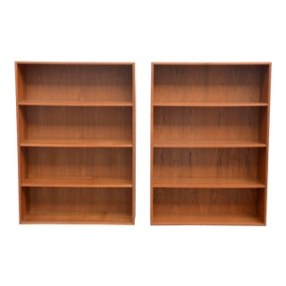 Mid Century Minimalistic Dyrlund Hanging Danish Teak Shelving Units - a Pair For Sale