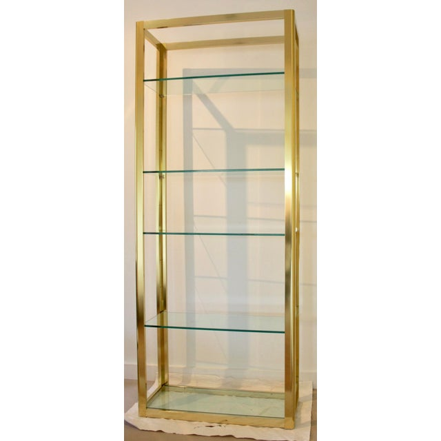 Milo Baughman Style Brass Etagere Shelving Unit For Sale - Image 11 of 11