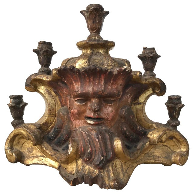 Early 18th Century Antique Painted Candelabra For Sale In Atlanta - Image 6 of 6
