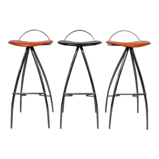 Italian Atomic Mid-Century Space Age Bar/Counter Stools For Sale