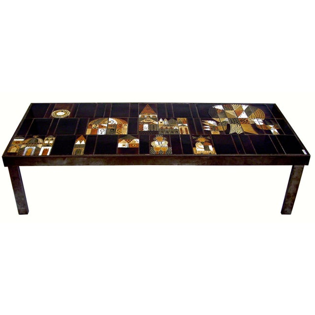 Vintage French Coffee Table Signed Roger Capron - Image 1 of 4