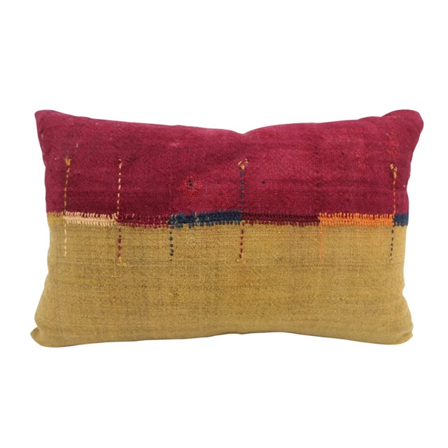 Contemporary Antique Chador-Shab Pillow For Sale - Image 3 of 3