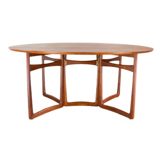 Spectacular Peter Hvidt & Orla Molgaard-Nielsen, C. 1960 Teak Dining Table For Sale