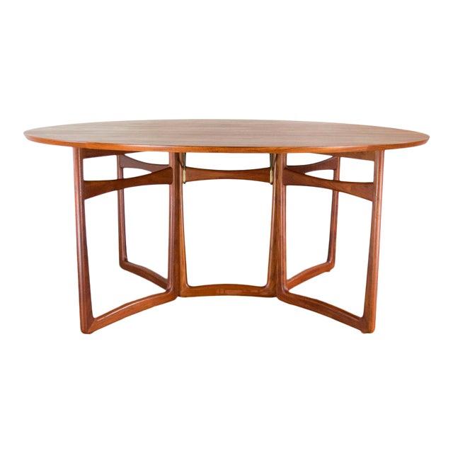 Spectacular Peter Hvidt & Orla Molgaard-Nielsen, C. 1960 Teak Dining Table For Sale