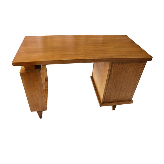 Brown American Of Martinsville Bamboo Desk For Sale - Image 8 of 11