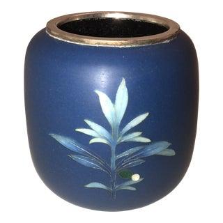 Vintage Tamura Japanese Matte Cloisonne Vase