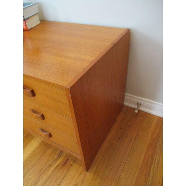 Mid Century Modern Danish Teak Domino Mobler Danish Modern Teak Dresser Nightstand Small Cabinet Jewelry Cabinet - Image 4 of 11