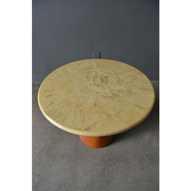 Brown Saltman 1965 Vintage Frank Rohloff for Brown Saltman Stone Occasional Table For Sale - Image 4 of 8