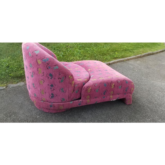 Memphis Rare Vladimir Kagan Swivel Chaise for Carsons For Sale - Image 3 of 8