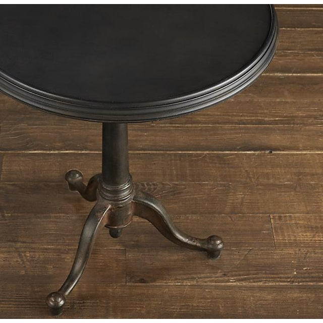 French 18th C French Restoration Hardware Brasserie Industrial Tilt Top Table For Sale - Image 3 of 9