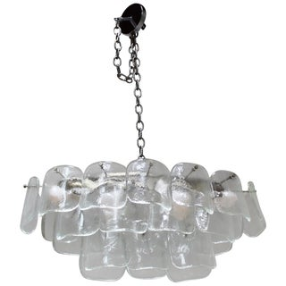 1970s Mazzega Oval Chandelier For Sale
