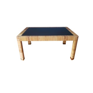 Boho Chic Bielecky Brothers Rattan Coffee Table For Sale