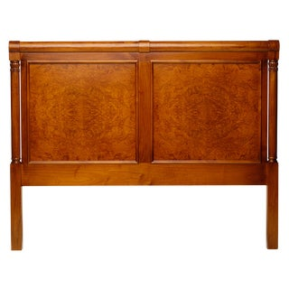 Biedermeier Jøsephson Phero Olive Burl King Headboard For Sale