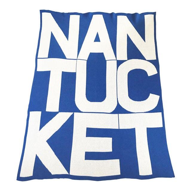 Liz Roache Nantucket Throw, Blue For Sale