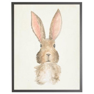 "Framed Watercolor Rabbit Print - 23"" X 29"""