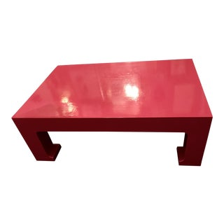 Hi Gloss Lacquered Cocktail Table For Sale
