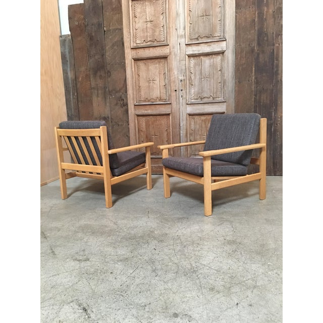 Hans Wegner Oak Lounge Chairs - a Pair For Sale - Image 9 of 10