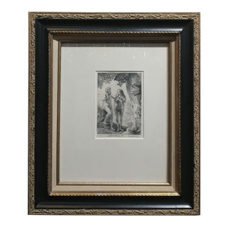 19th Century Armand Durand Adam & Eve Etching After Rembrandt For Sale
