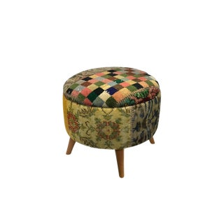 Modern Handcrafted Turkish Ottoman Footstool For Sale