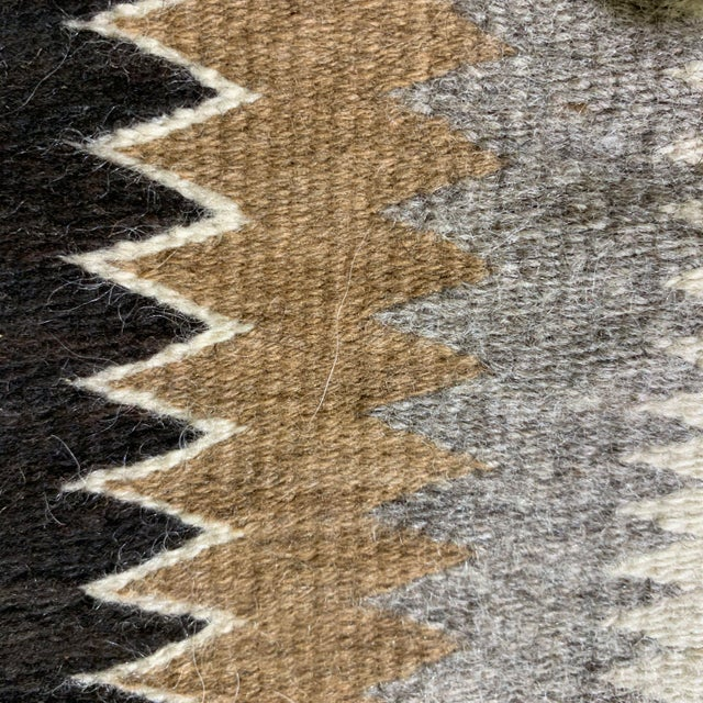 "Black 1960s Vintage Navajo Pictorial Rug-2'4'x3'8"" For Sale - Image 8 of 13"