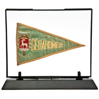 Framed Vintage French Gerardmer Pennant For Sale