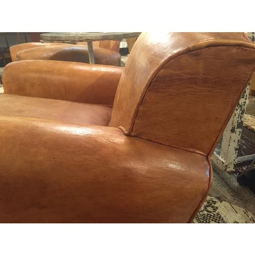 Leather Mid Century Modern Italian Club Chair, C.1940, Sold as a Pair For Sale - Image 7 of 10