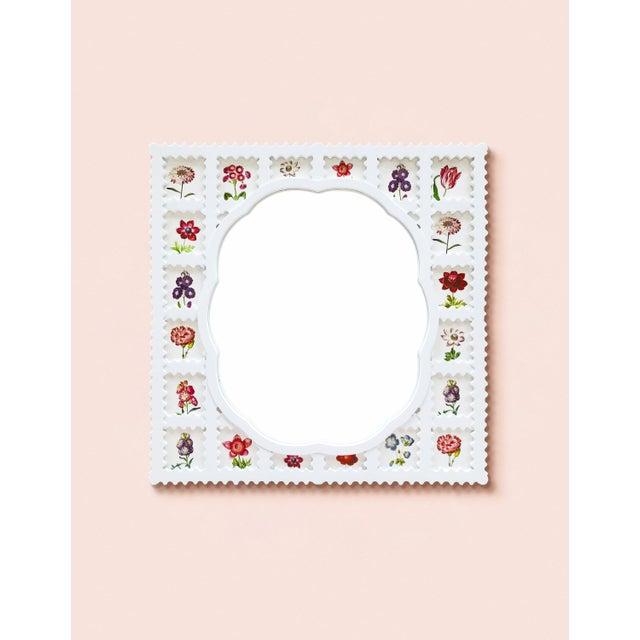 Contemporary Fleur Home x Chairish Liz Marsh Scallop Lattice Mirror For Sale - Image 3 of 4