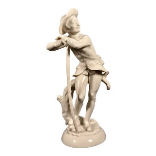 """Hutschenreuther """"Man With Walking Stick"""" Porcelain Figurine, 1 / 85, the First of Only Eighty Five Produced. For Sale"""
