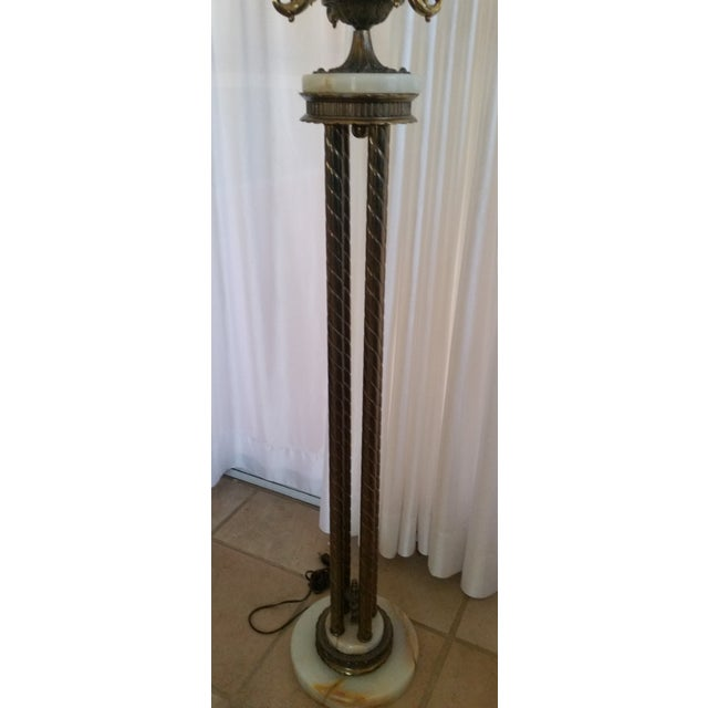 Mid-Century Saloon Bar Globe Floor Lamp - Image 7 of 11