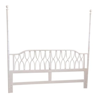 1980s Palm Beach Regency King Size Headboard For Sale