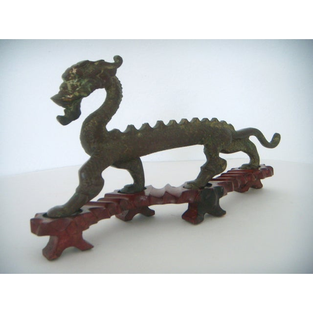 Chinese 'Running Dragon' on Rosewood Stand - Image 2 of 6