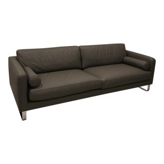 Alivar Italian Leather Sofa For Sale