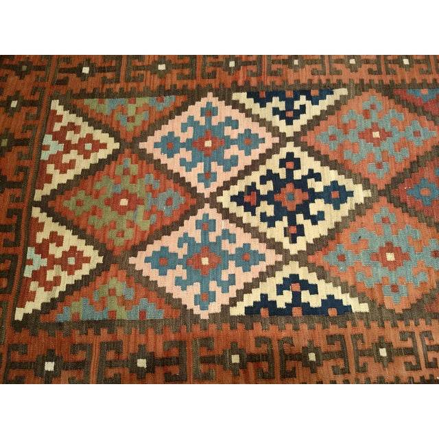 Persian Flat Woven Kilim Runner - 2′10″ × 12′3″ For Sale - Image 9 of 13