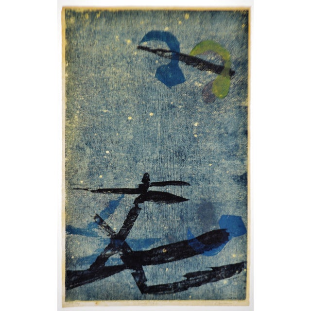 Vintage Libby Newman Oriental Mood II Artist Proof Woodcut - Pencil Signed For Sale - Image 13 of 13