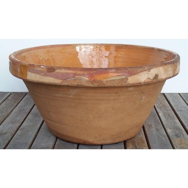 French Antique Glazed Terrecotta Tian Bowl - Image 6 of 9
