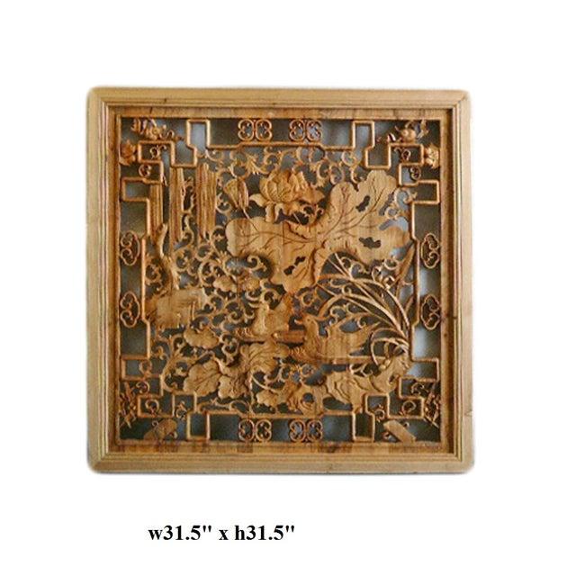 Lotus & Birds Wood Wall Plaque - Image 5 of 5